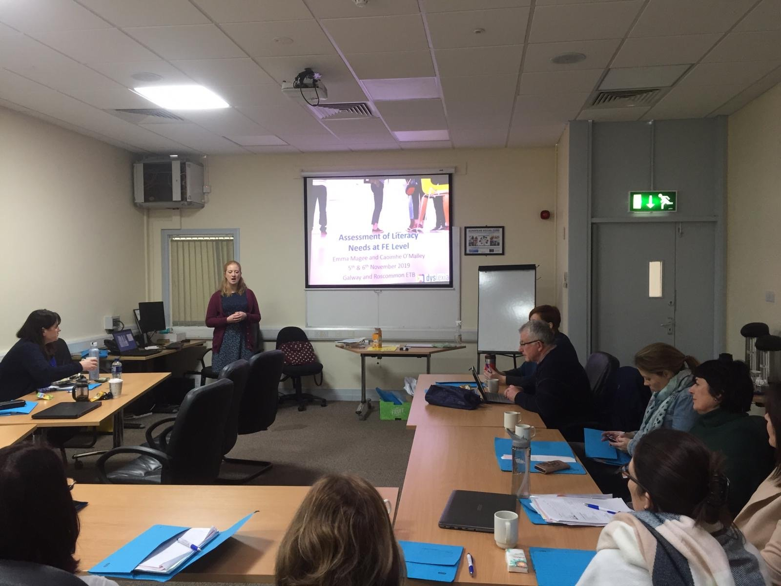 Training being delivered to a group of FET staff